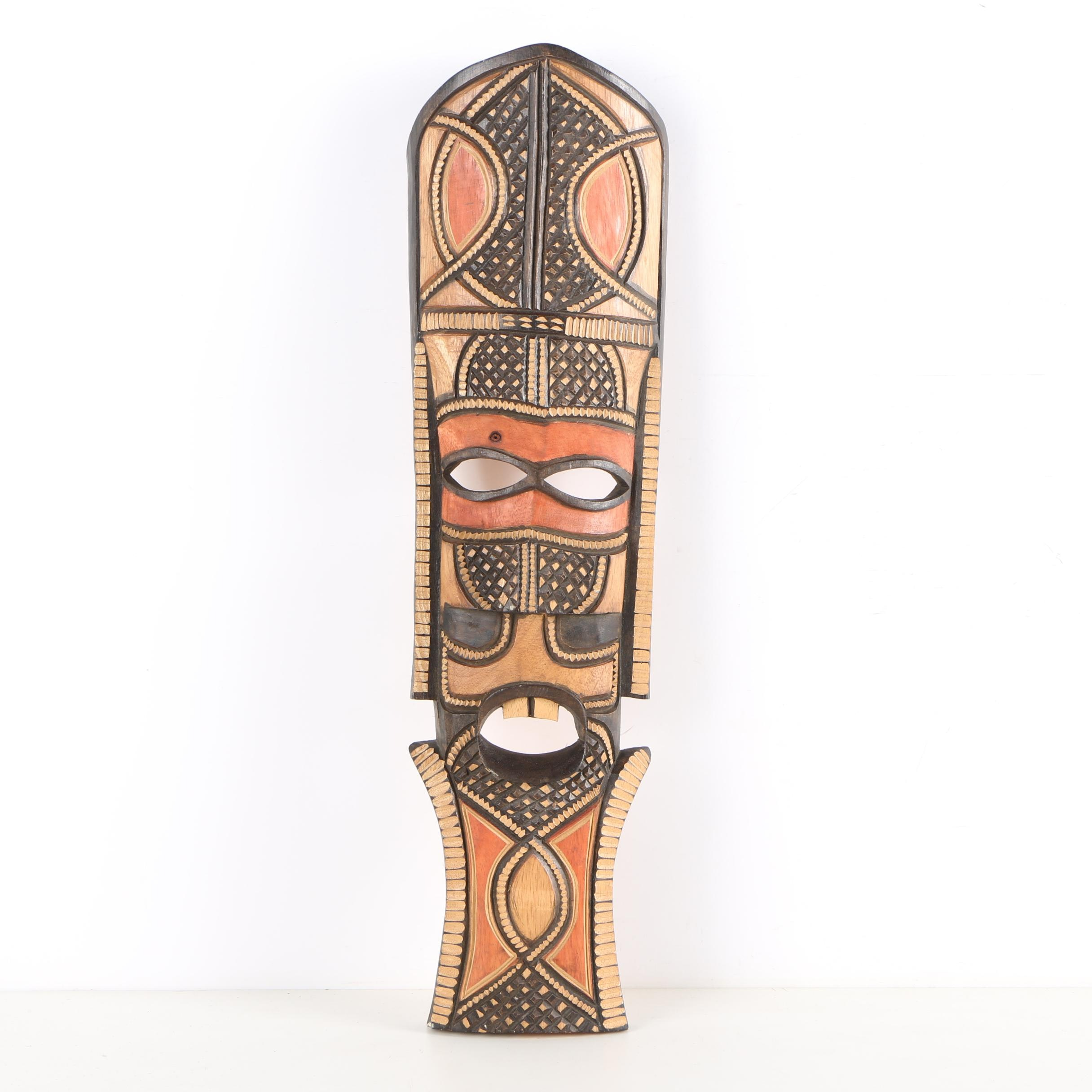Kenyan-Style Carved Wooden Mask