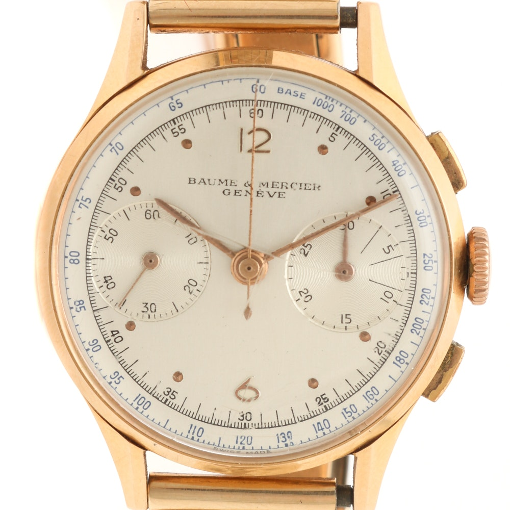 Baume & Mercier 18K Yellow Gold Wristwatch