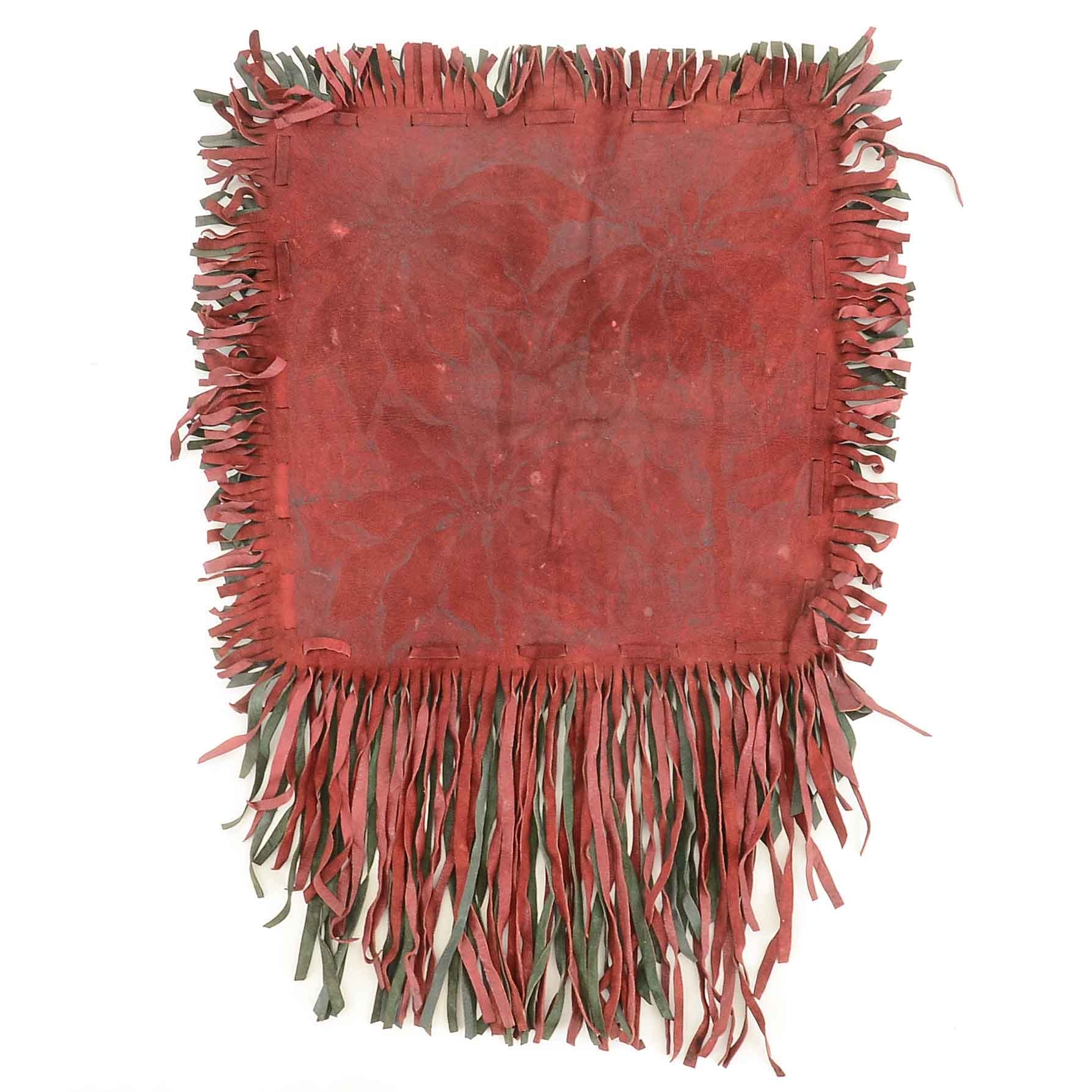 1905 Los Angeles Fringed Suede Wall Hanging