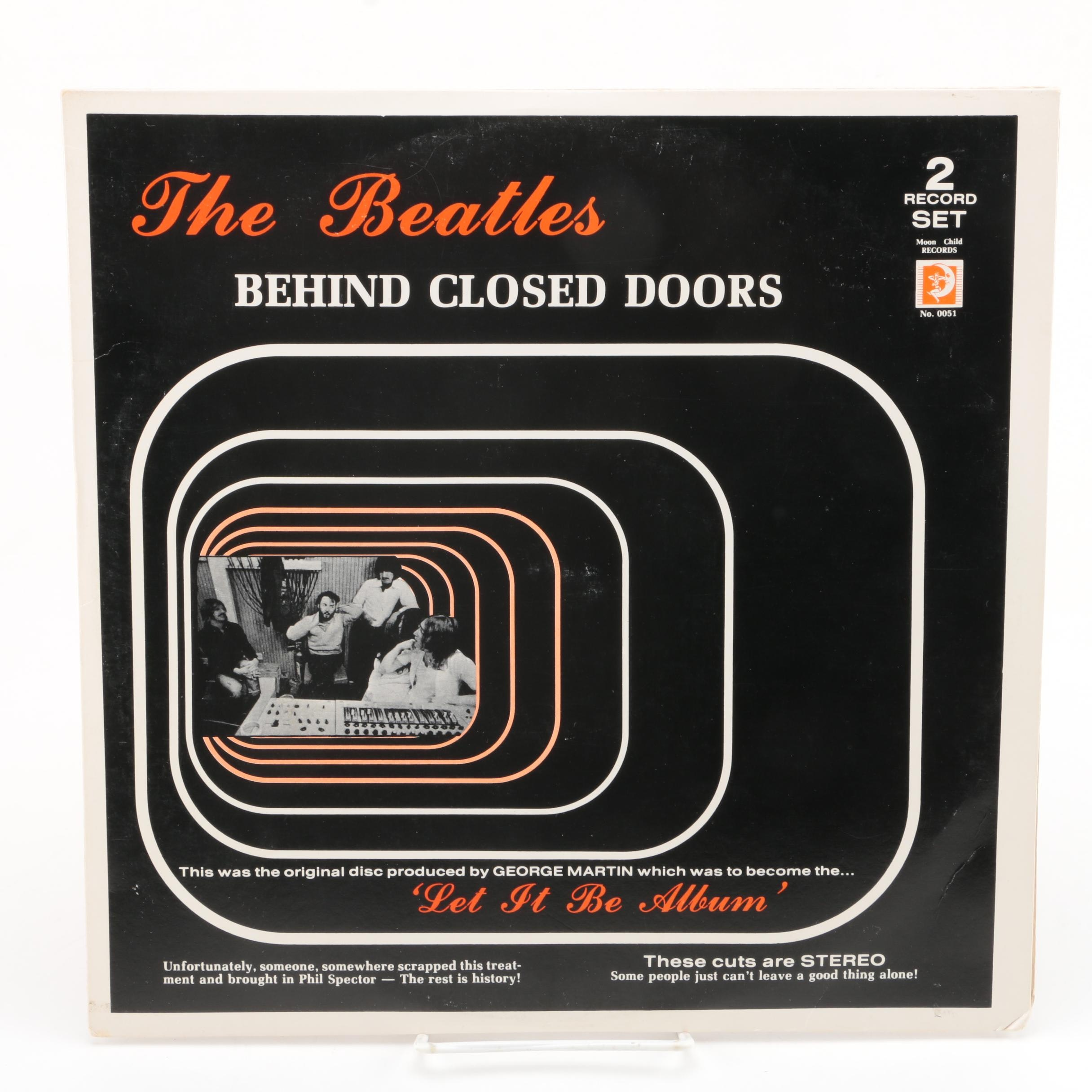"The Beatles ""Behind Closed Doors"" Spanish Stereo Bootleg Double LP Record"