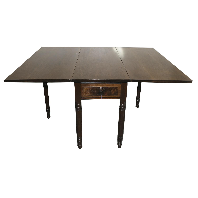 Vintage Walnut Gate-Leg Table