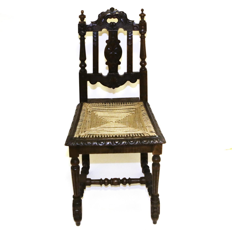 Antique Italian Walnut Side Chair