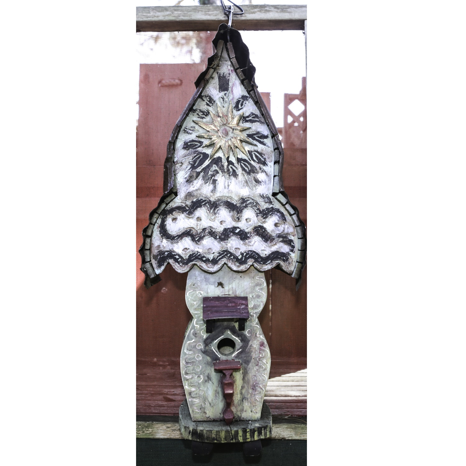 Hand-Painted Wooden Birdhouse