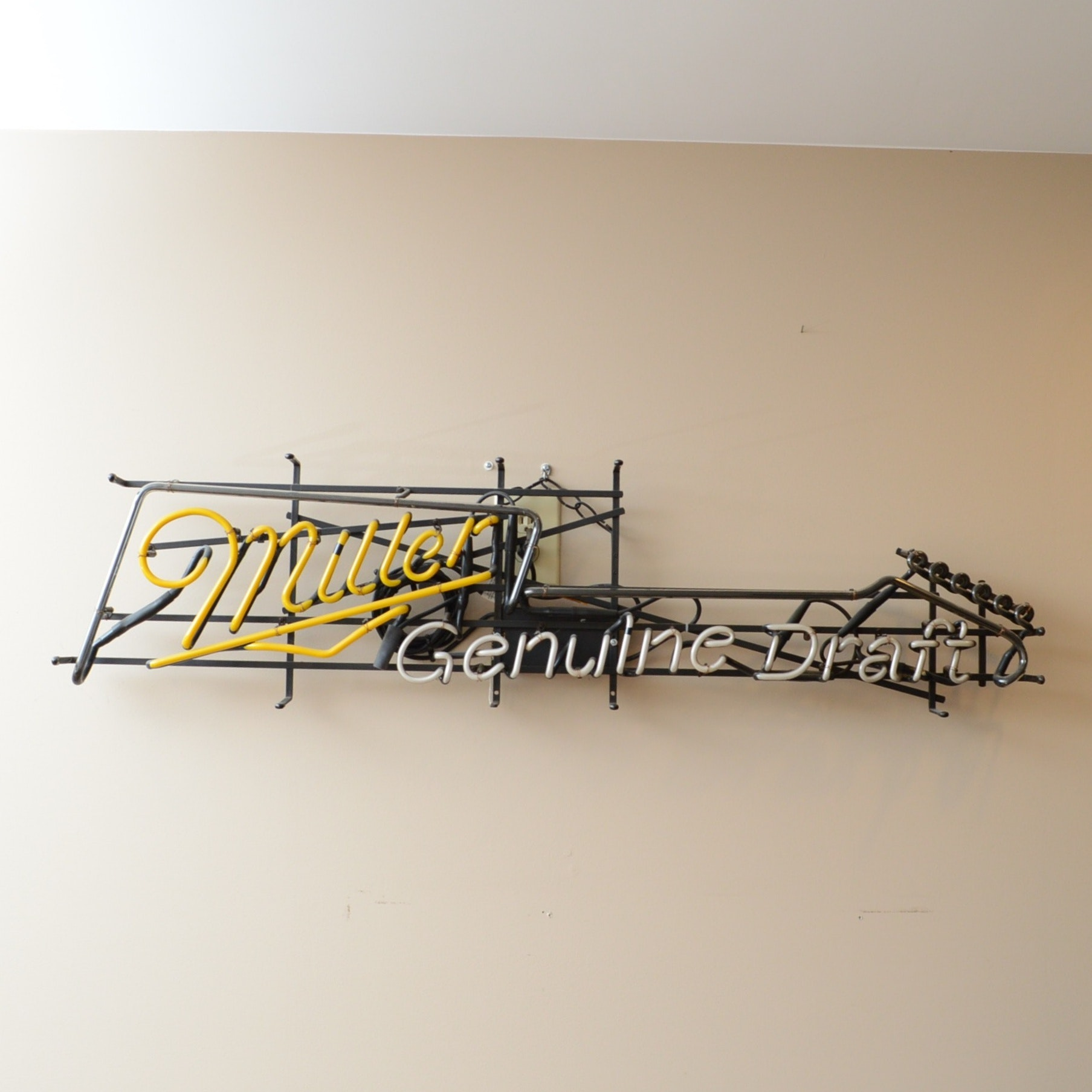Miller Genuine Draft Neon Advertising Sign