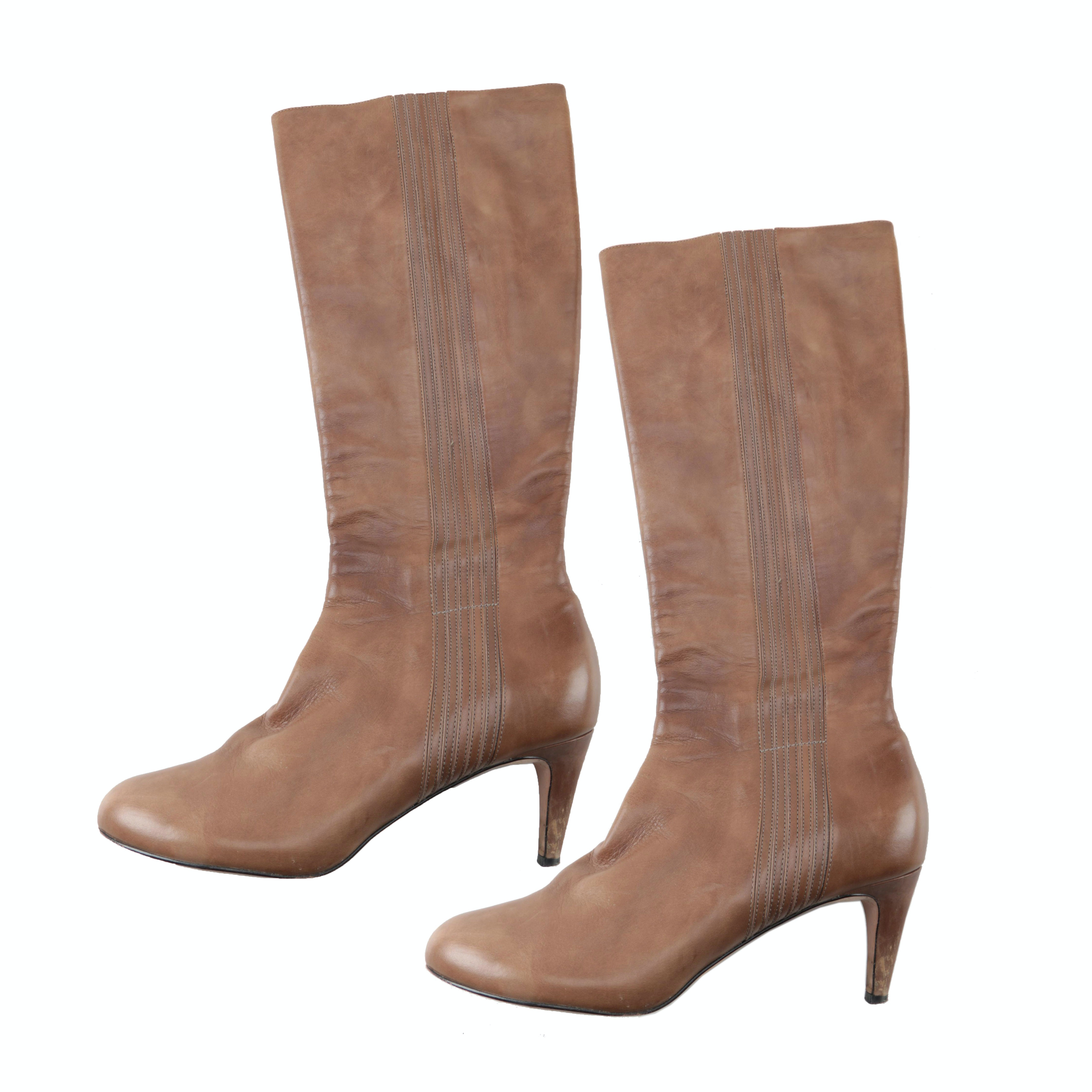 Women's Cole Haan Leather High Heeled Boots