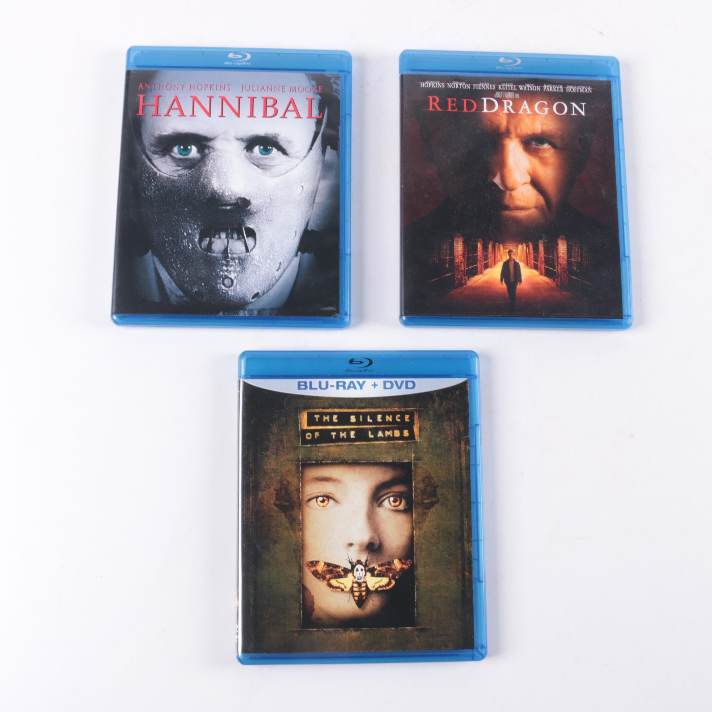 """Anthony Hopkins """"Hannibal Lecter"""" Films Blu-ray Collection"""