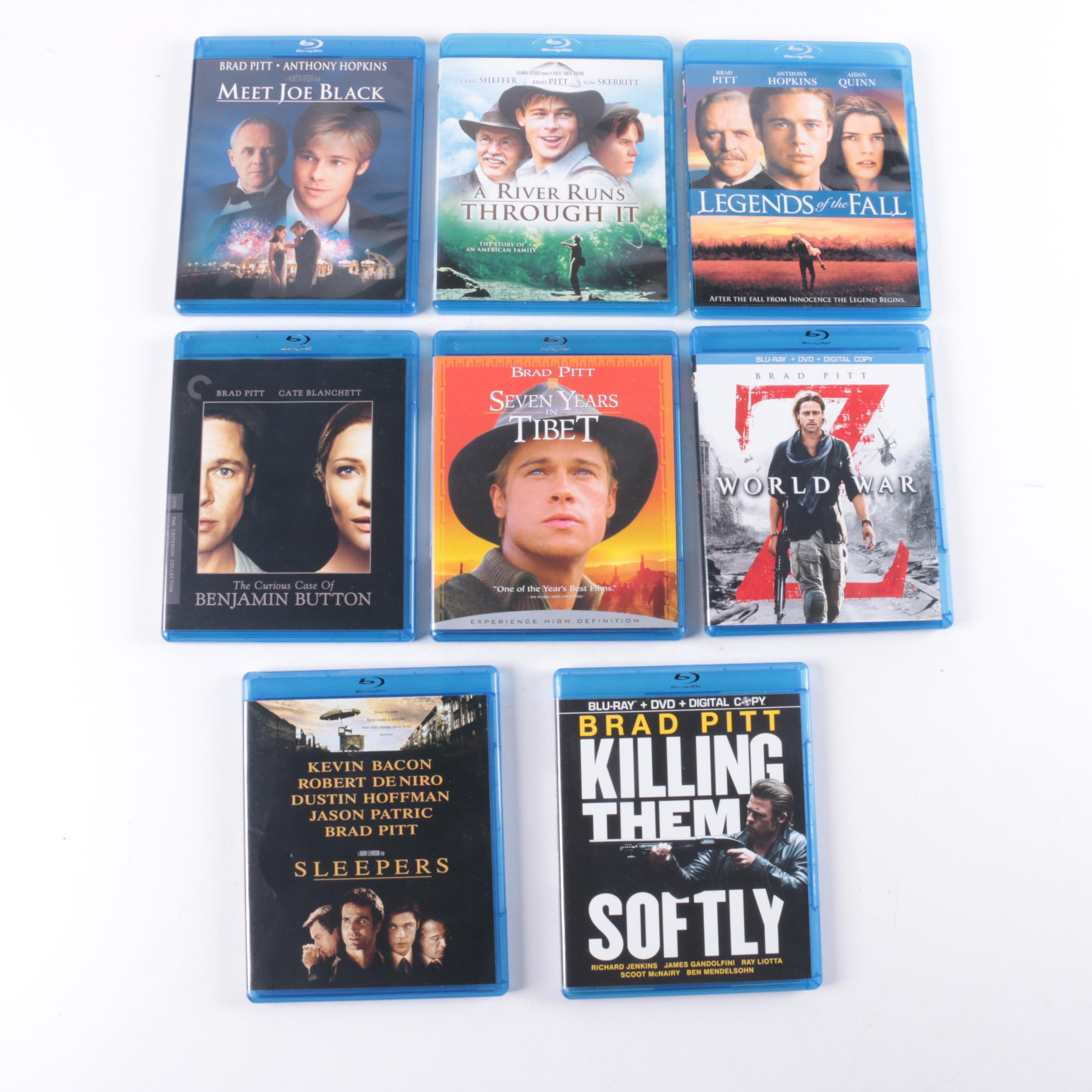 """Brad Pitt Blu-ray Collection Including """"Legends of the Fall"""" and """"World War Z"""""""