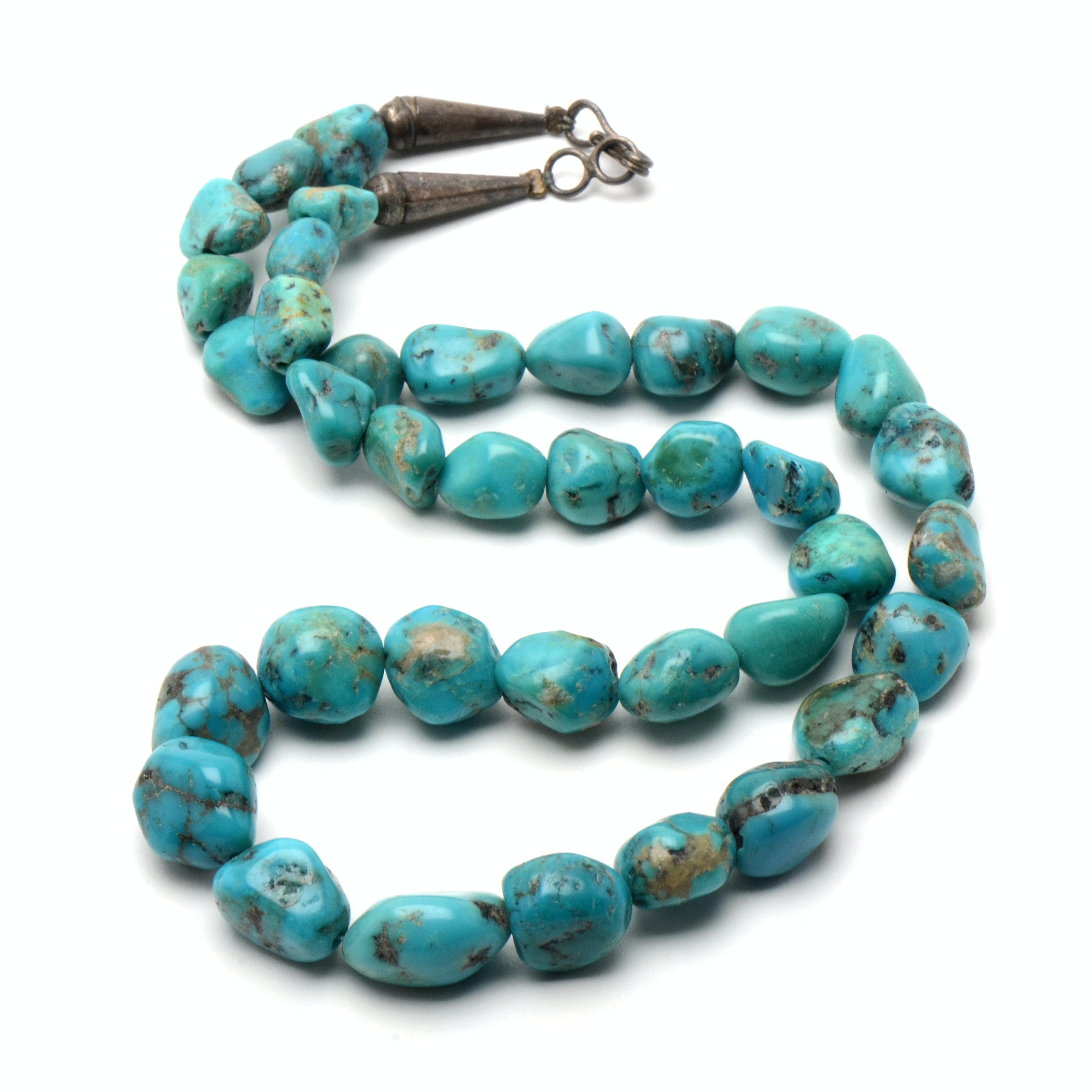 Vintage Southwestern Style Turquoise Stone Necklace