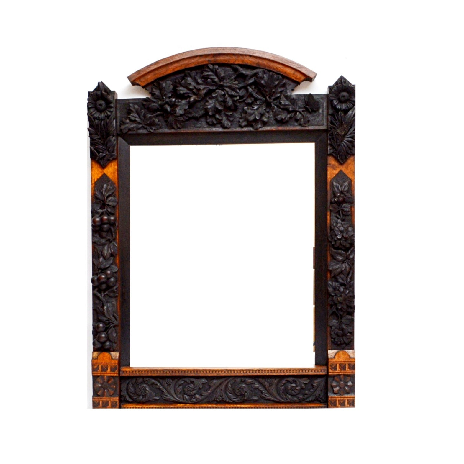Everett Chauncey (Attributed) Hand Carved Wall Mirror