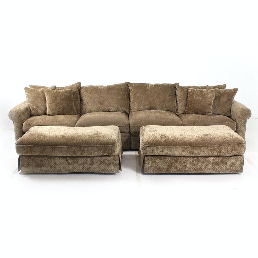 Camden Collection Contemporary Plush Sectional Sofa