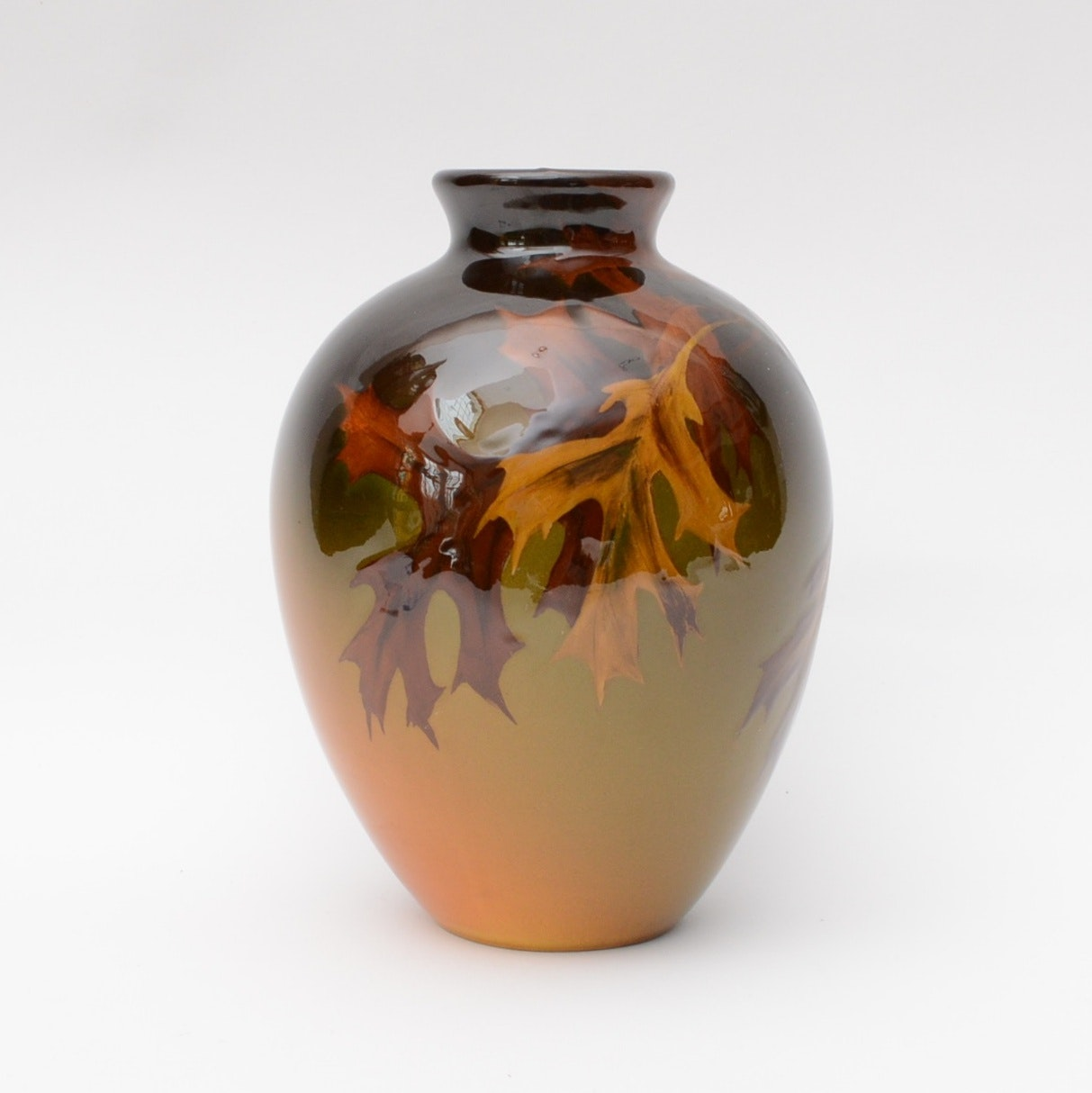 "1902 Mary Nourse Rookwood ""Oak Leaf"" Vase"