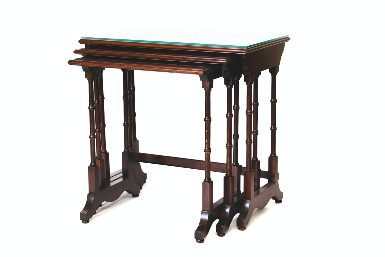 Ethan Allen Wooden Nesting Tables