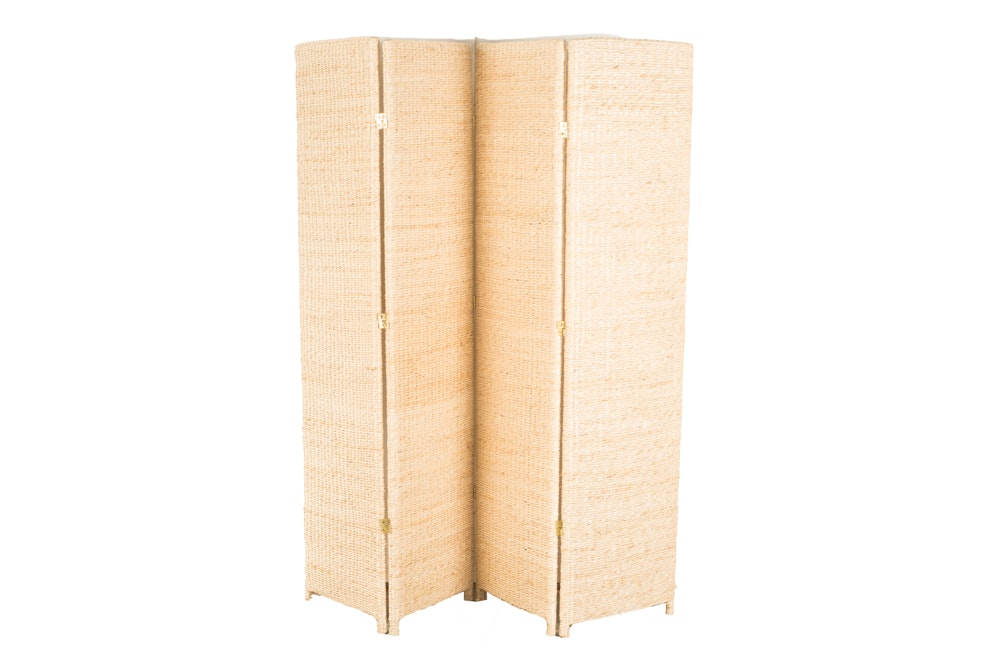 4-Panel Woven Room Divider