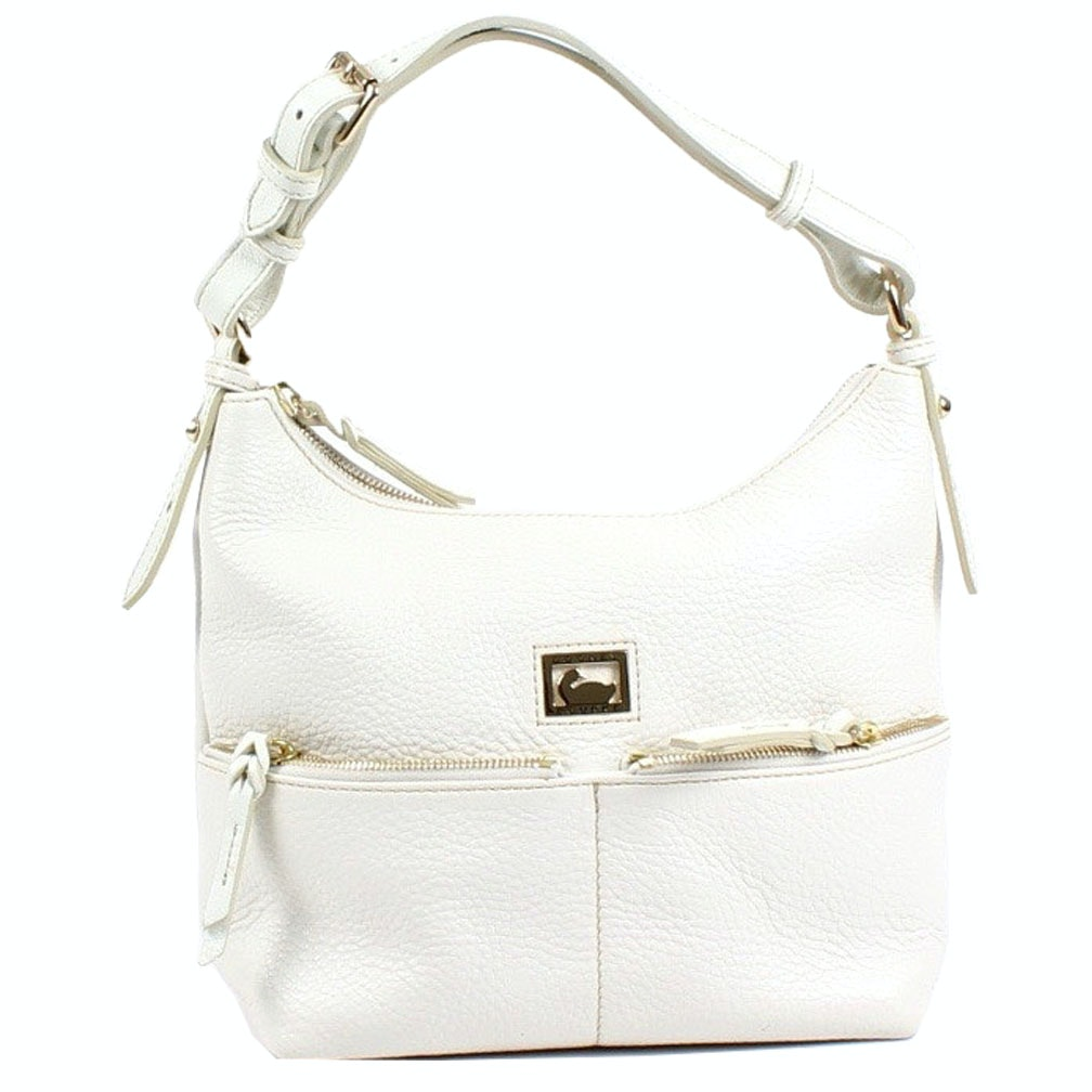Dooney & Bourke White Pebbled Leather Handbag