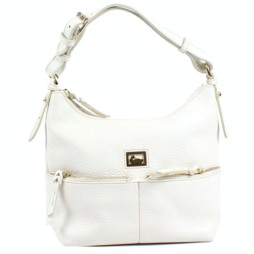 1c5384b08e0a Dooney   Bourke White Pebbled Leather Handbag   EBTH