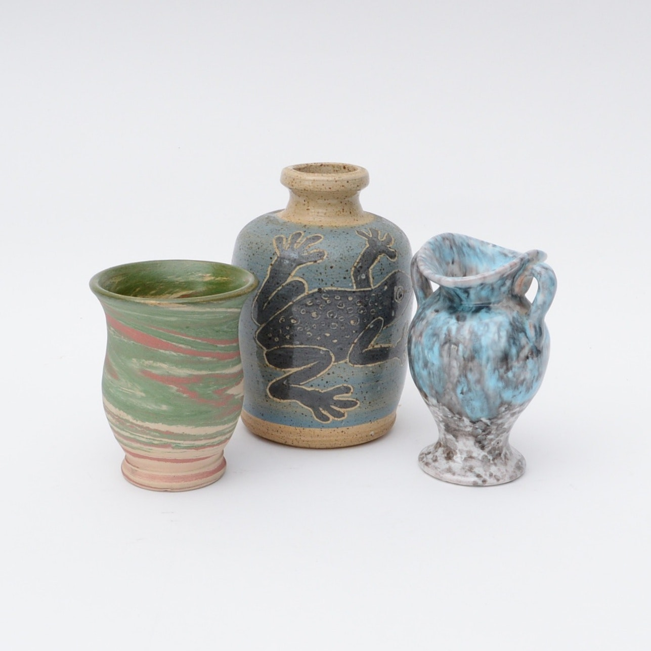 Collection of Hand Thrown Pottery Vases