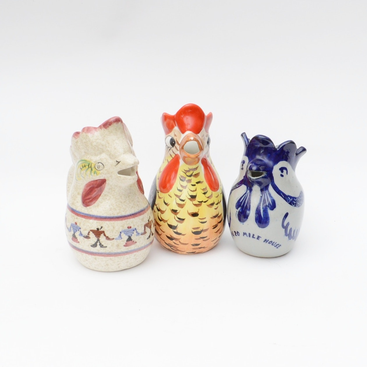 Hand-Painted Italian Chicken Pitchers