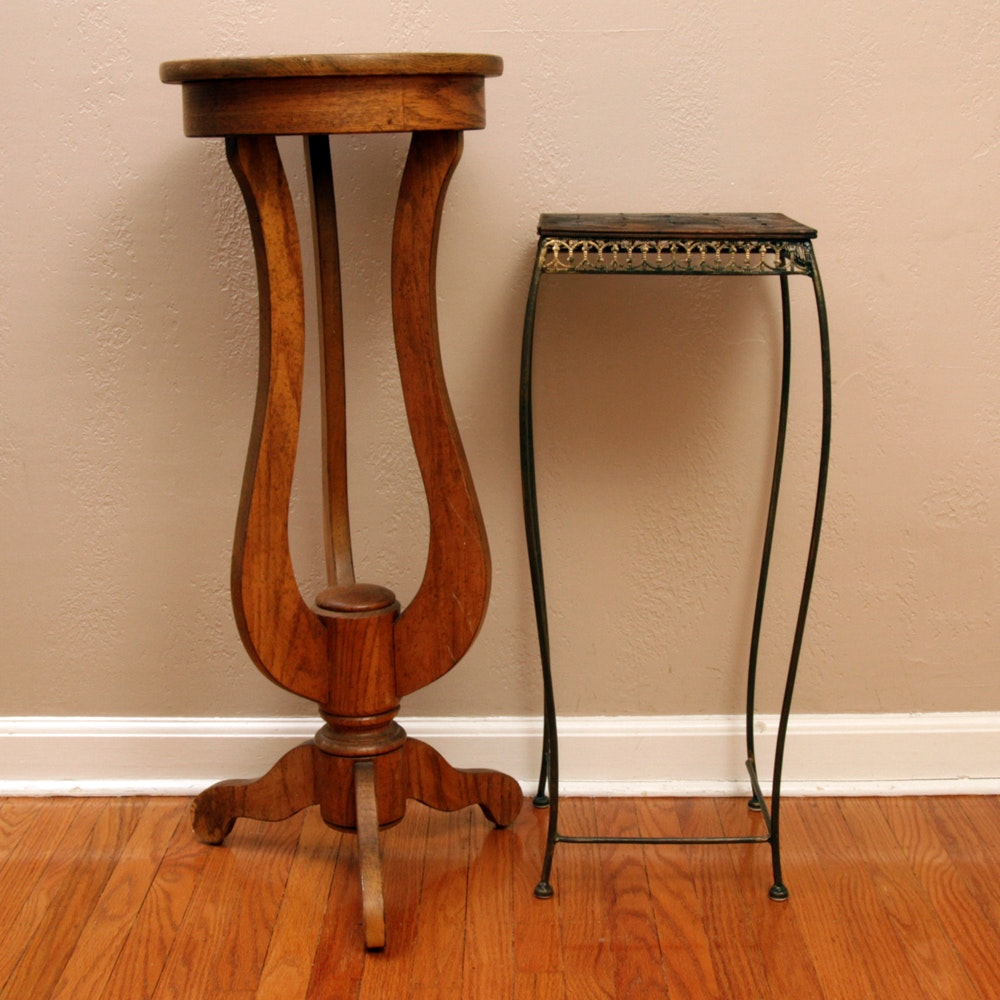 Empire Style Plant Stand and Metal Plant Stand