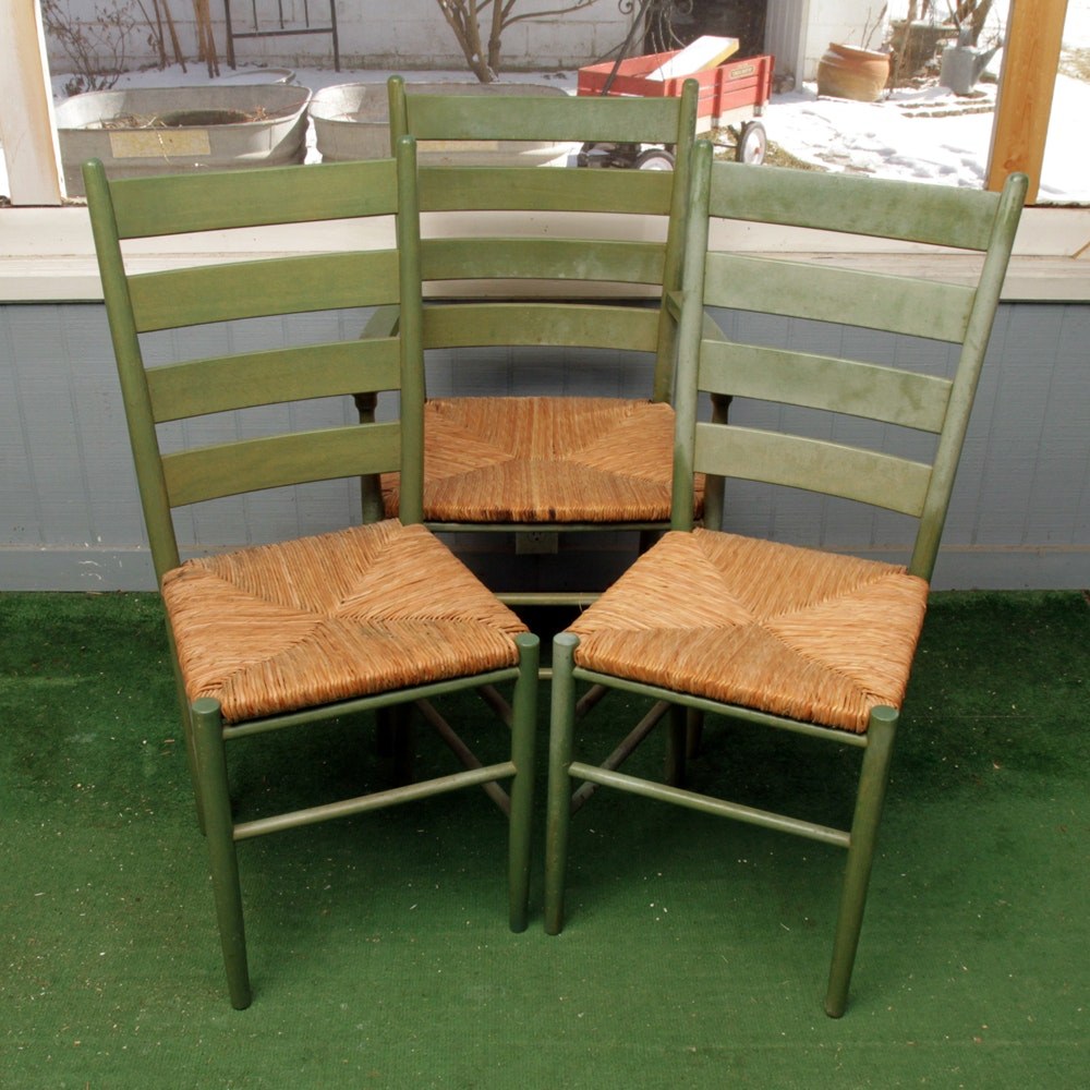 Vintage Painted Ladder Back Chairs