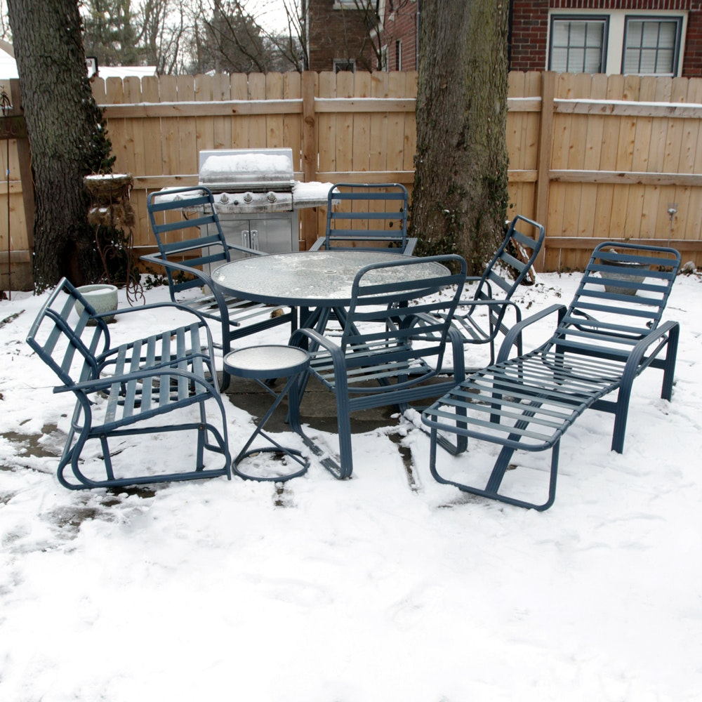 Patio Table, Chairs and Chaise