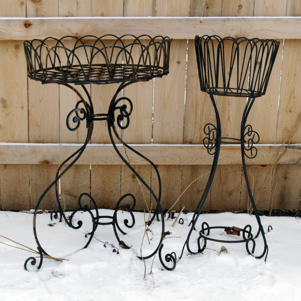 Ornate Metal Outdoor Plant Stands