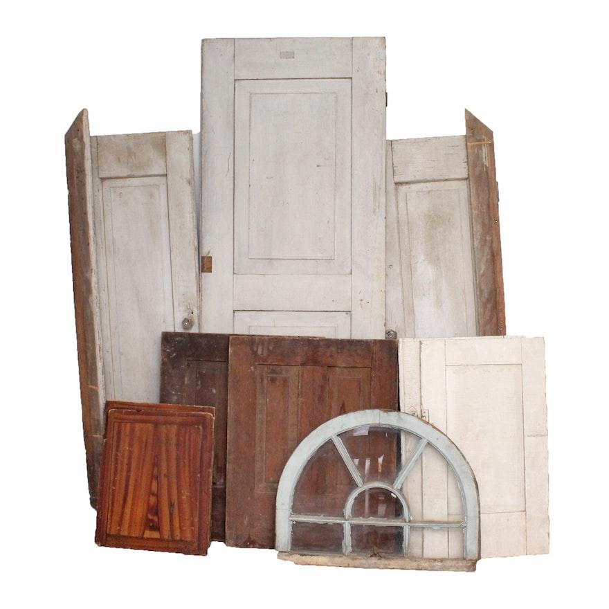 Antique Cupboard Doors, Windows, and Other Salvage ... - Antique Cupboard Doors, Windows, And Other Salvage : EBTH