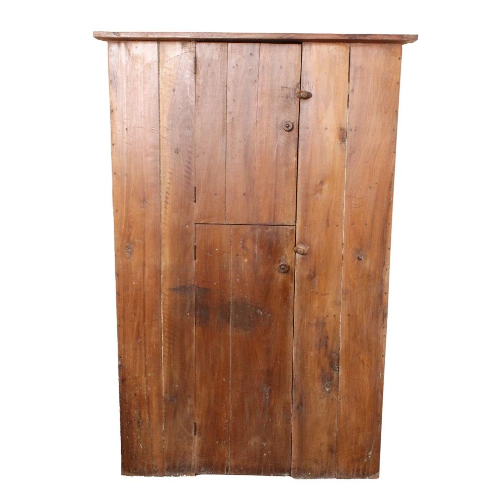 Delicieux Antique Primitive Handmade Pine Corner Cabinet