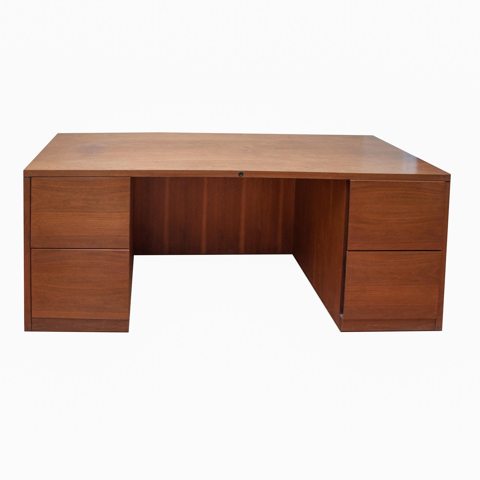 Large Filing Cabinet Wood Desk