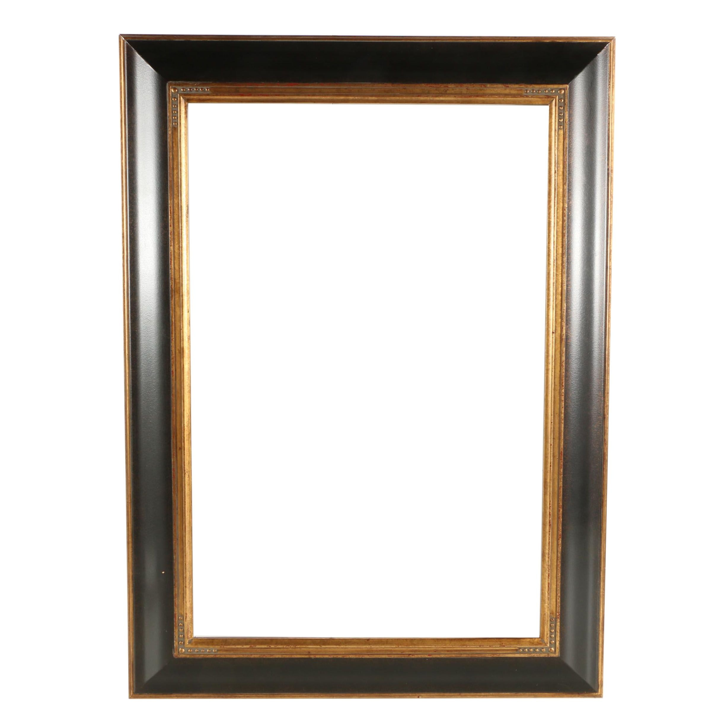 Black Wood Frame with Gilded Trim