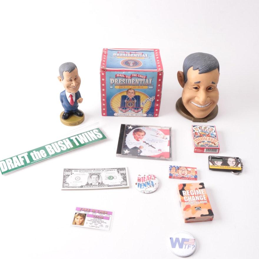 Novelty George W. Bush Political Memorabilia