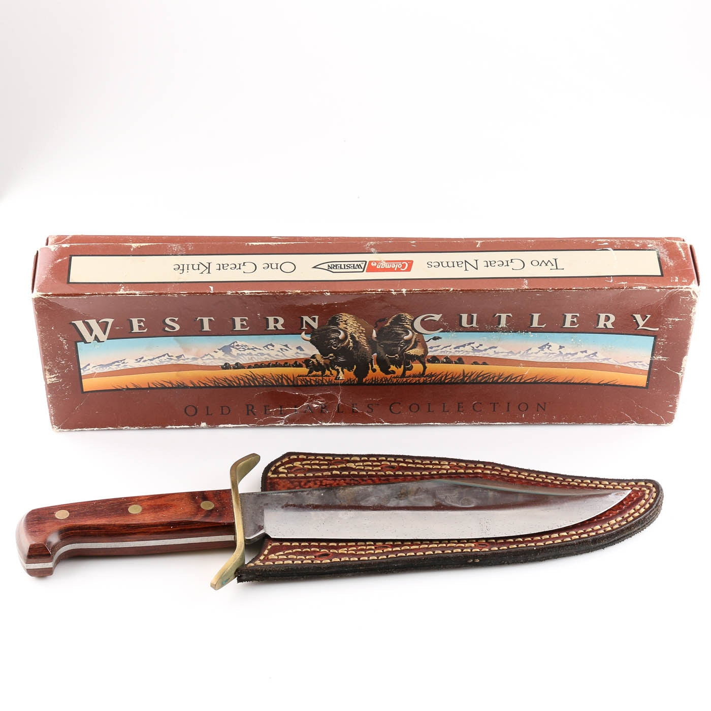 Coleman Western W49 Bowie Knife with Leather Sheath