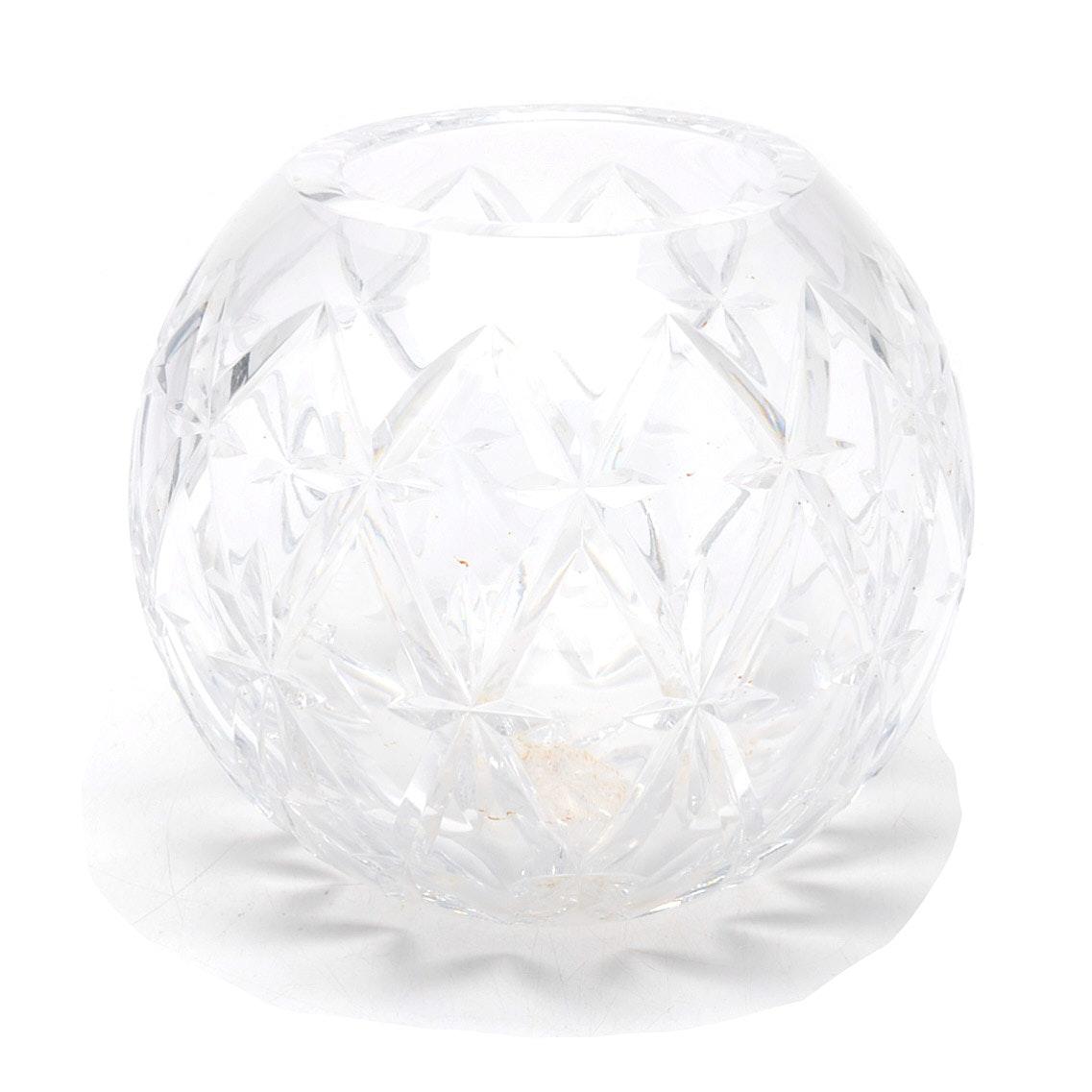 Tiffany and Company Crystal Rose Bowl