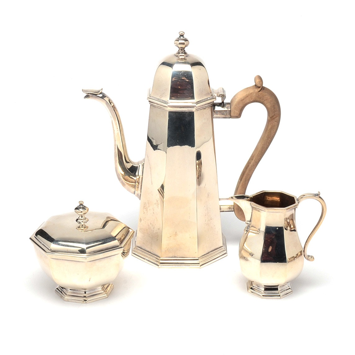 1977 William Walter Antiques Ltd. Sterling Silver Coffee Service