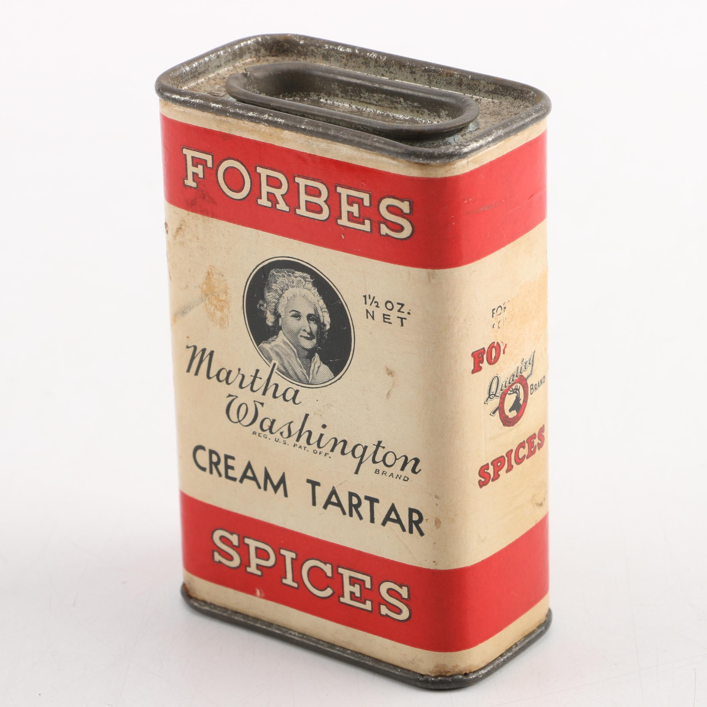 Vintage Forbes Spice Martha Washington Tin