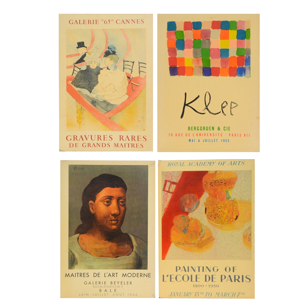Collection of Four Lithographic Exhibition Posters