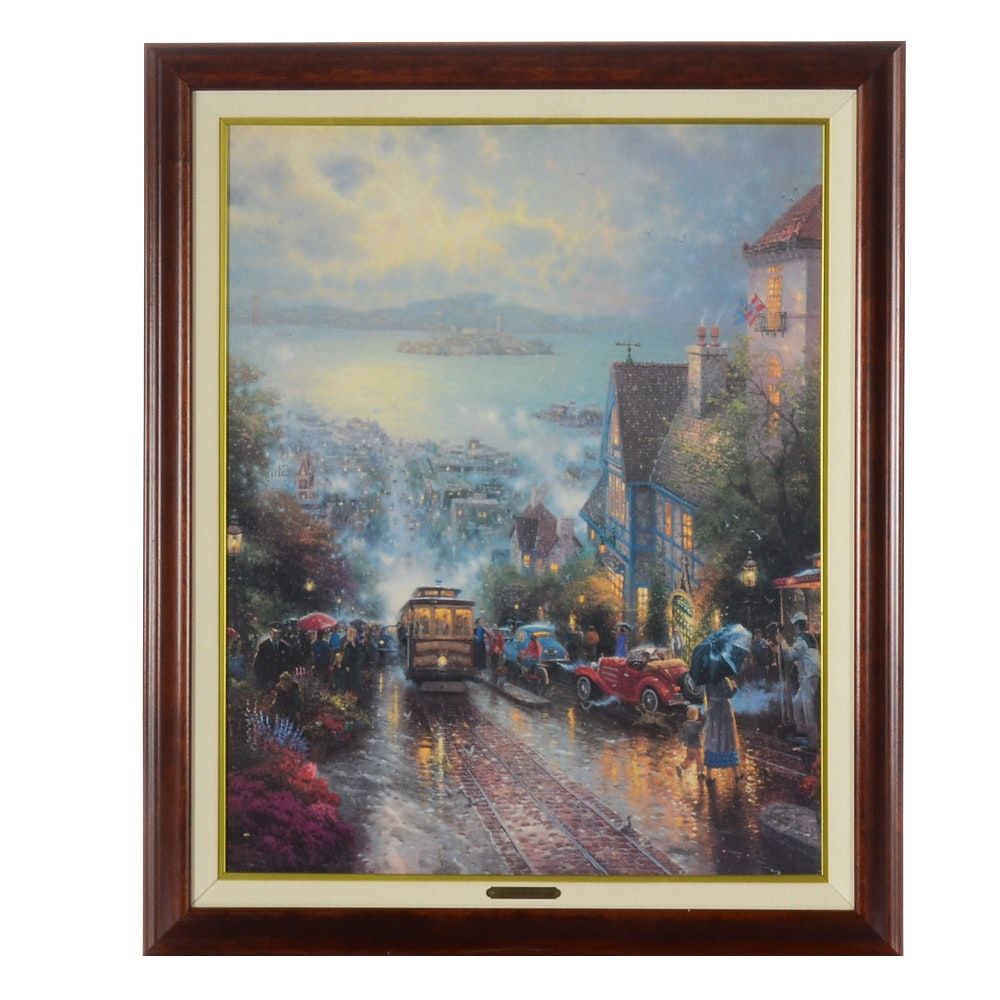 "Thomas Kinkade Limited Edition Offset Lithograph ""Hyde Street and the Bay"""