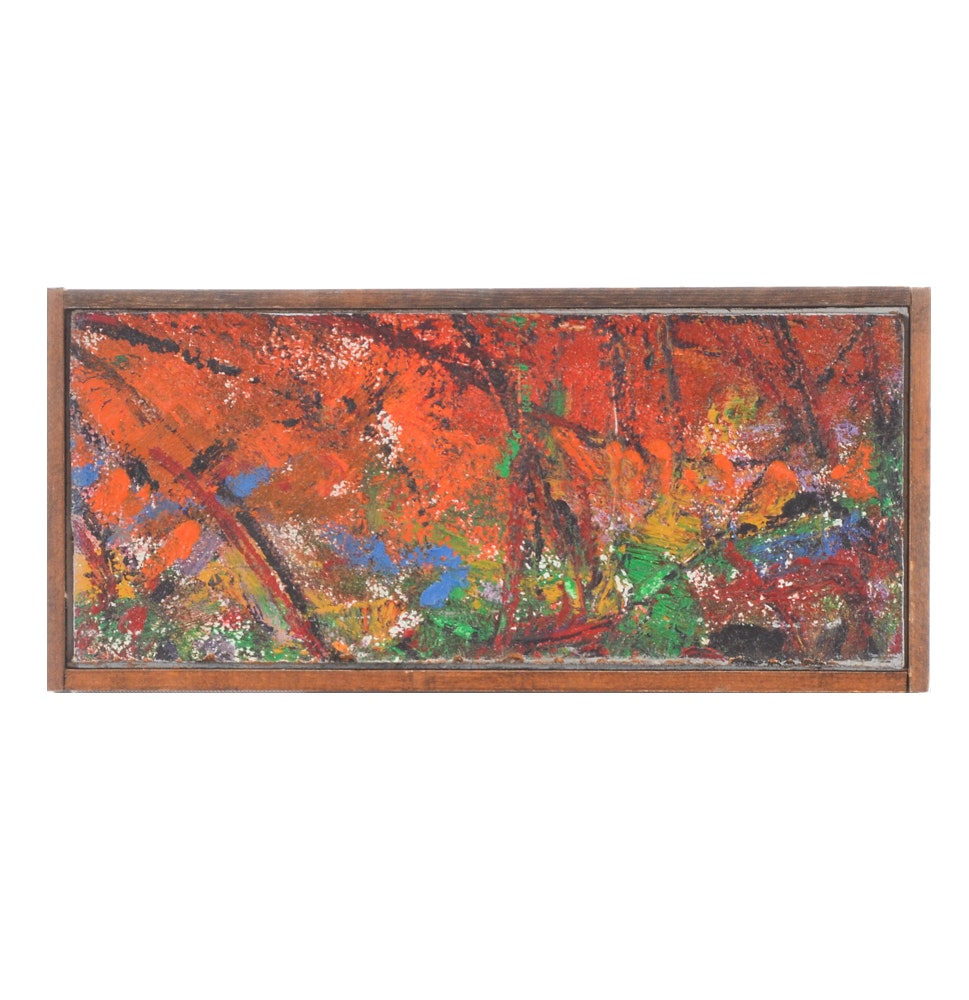 Paul Chidlaw Abstract Expressionist Oil Painting on Academy Board