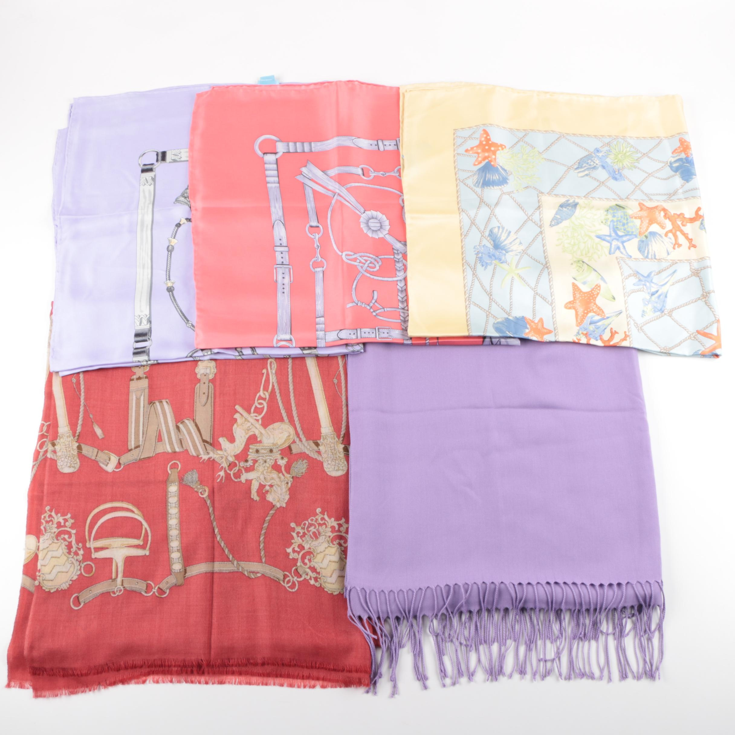 J.Mclaughlin Silk and Wool Scarves