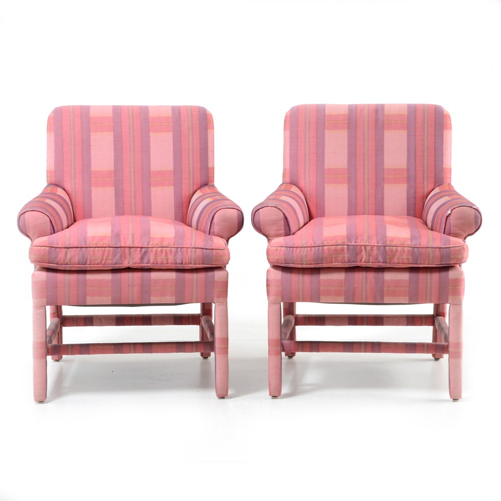 Pair of Upholstered Arm Chairs