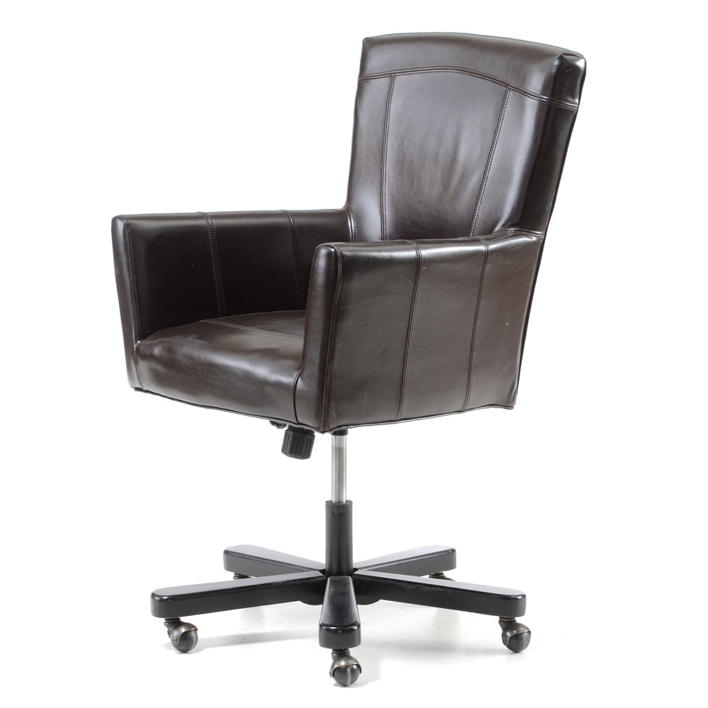 Arhaus Leather Upholstered Desk Chair