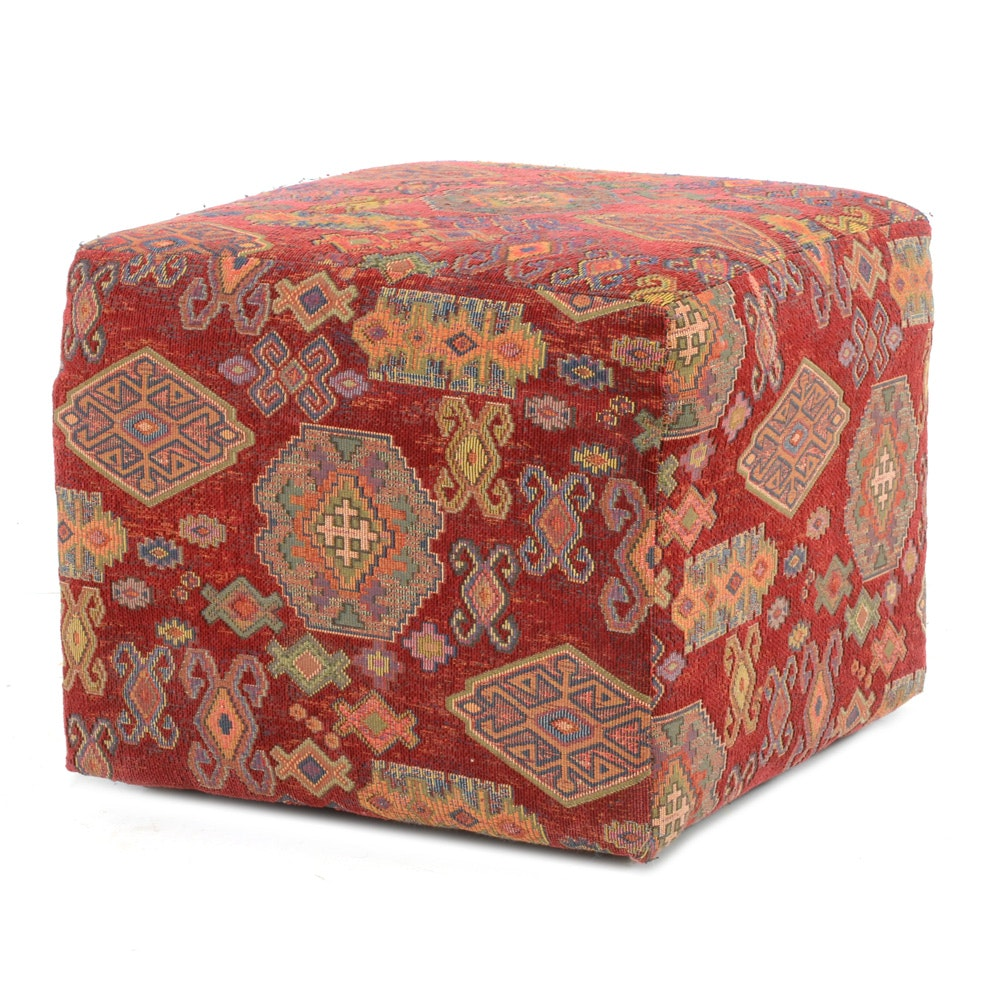 Kilim Covered Ottoman