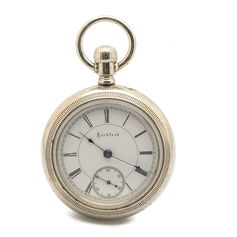 1887 Rockford Open Face Pocket Watch
