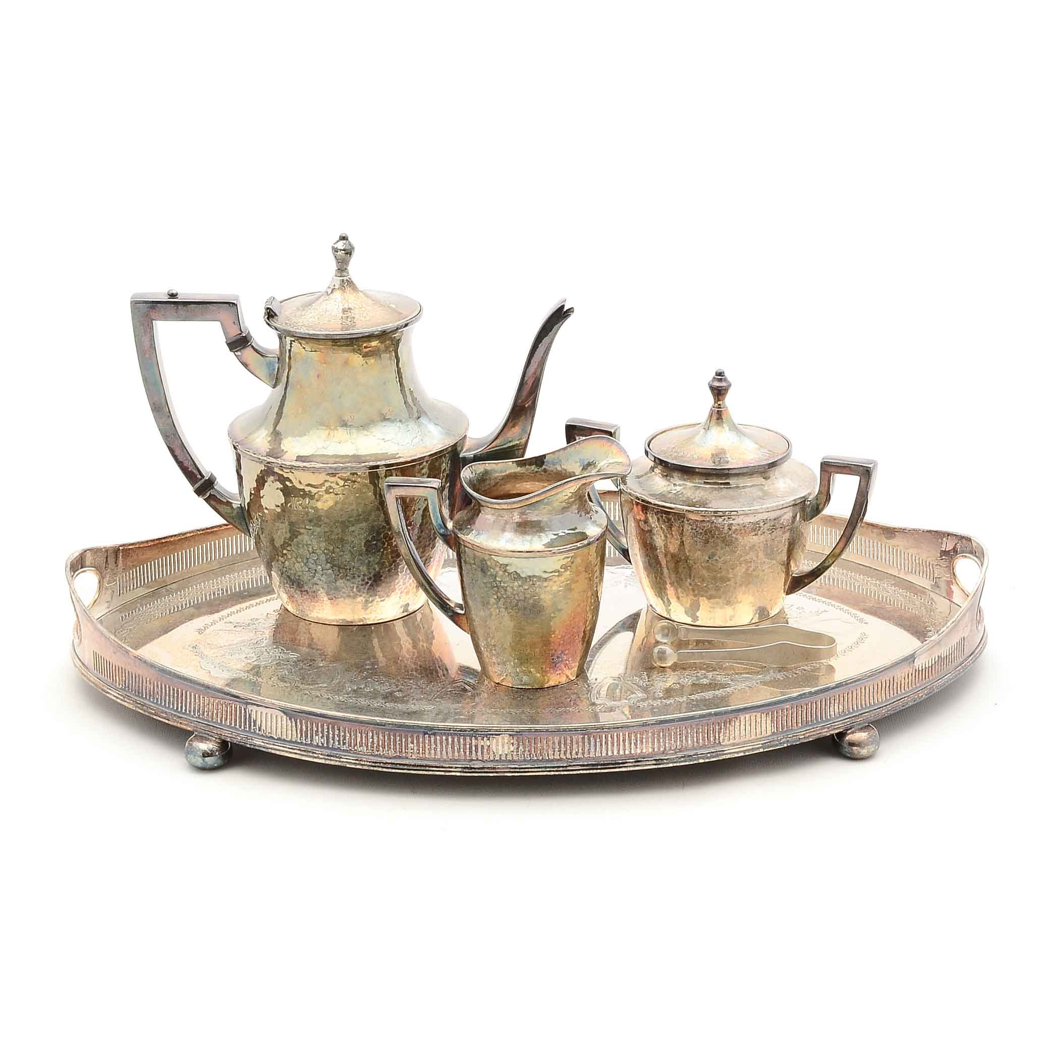 Silver Plate Coffee Service and Tray