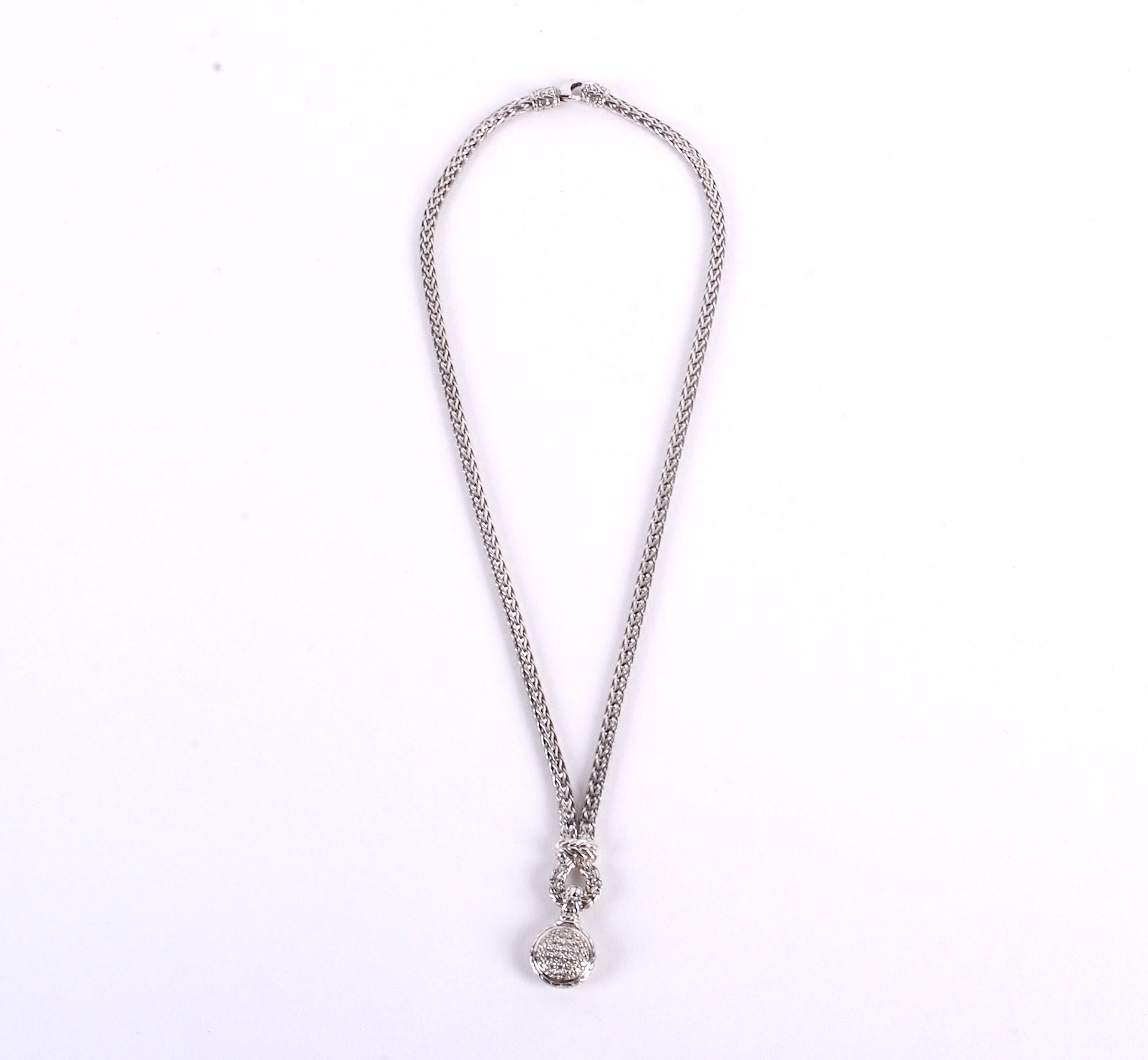 Jon Hardy Sterling Silver Diamond Necklace