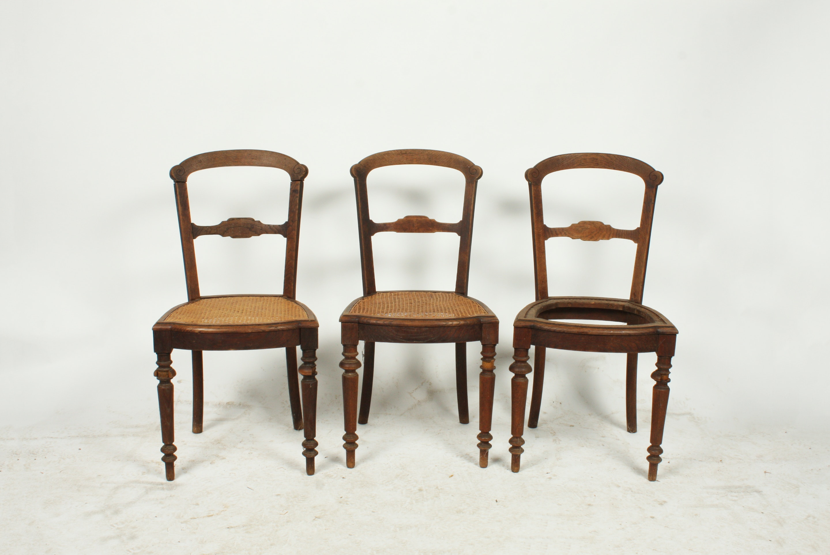 Wooden Cane Side Chairs