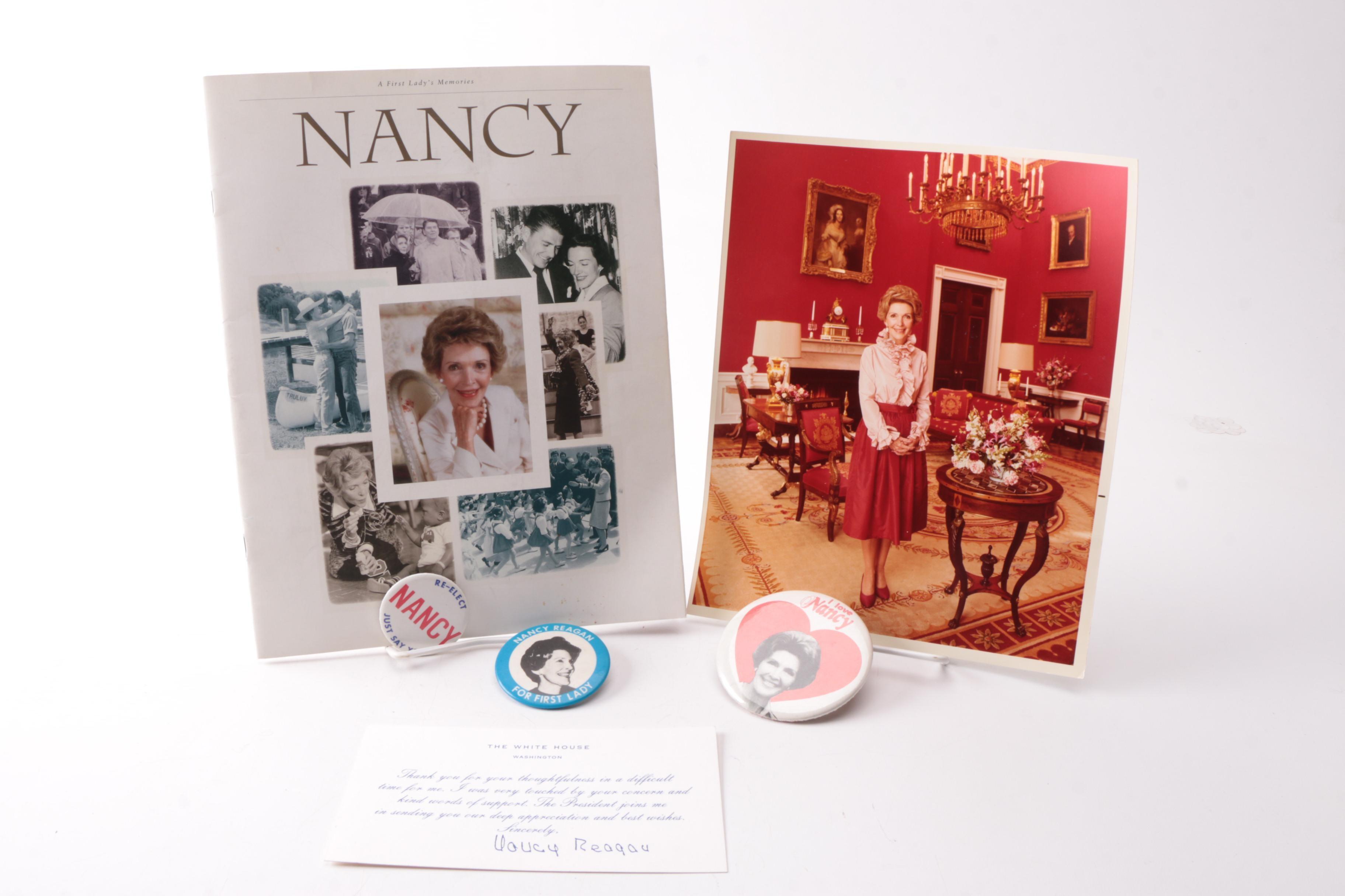Nancy Reagan Memorabilia