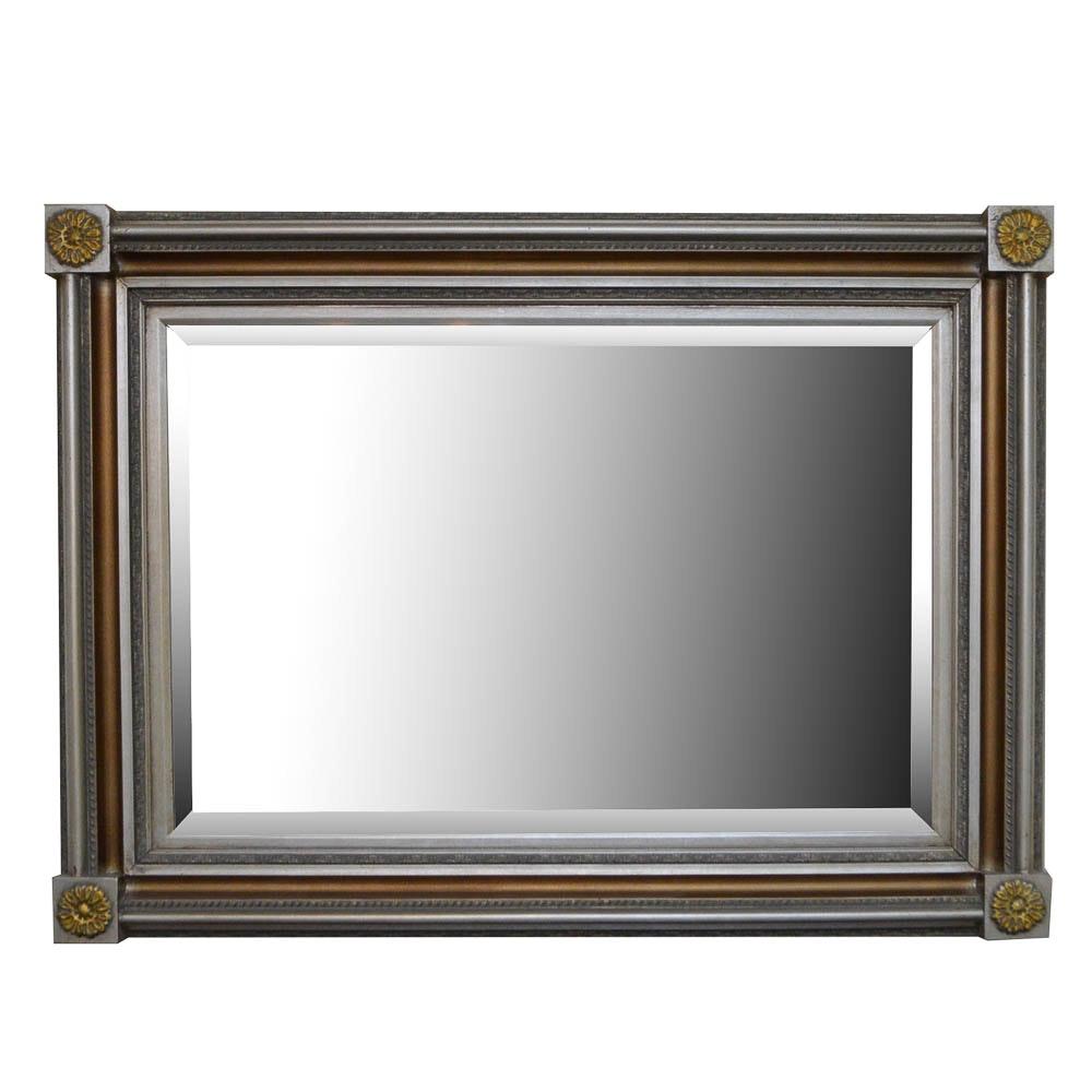 Contemporary Wood Framed Wall Mirror