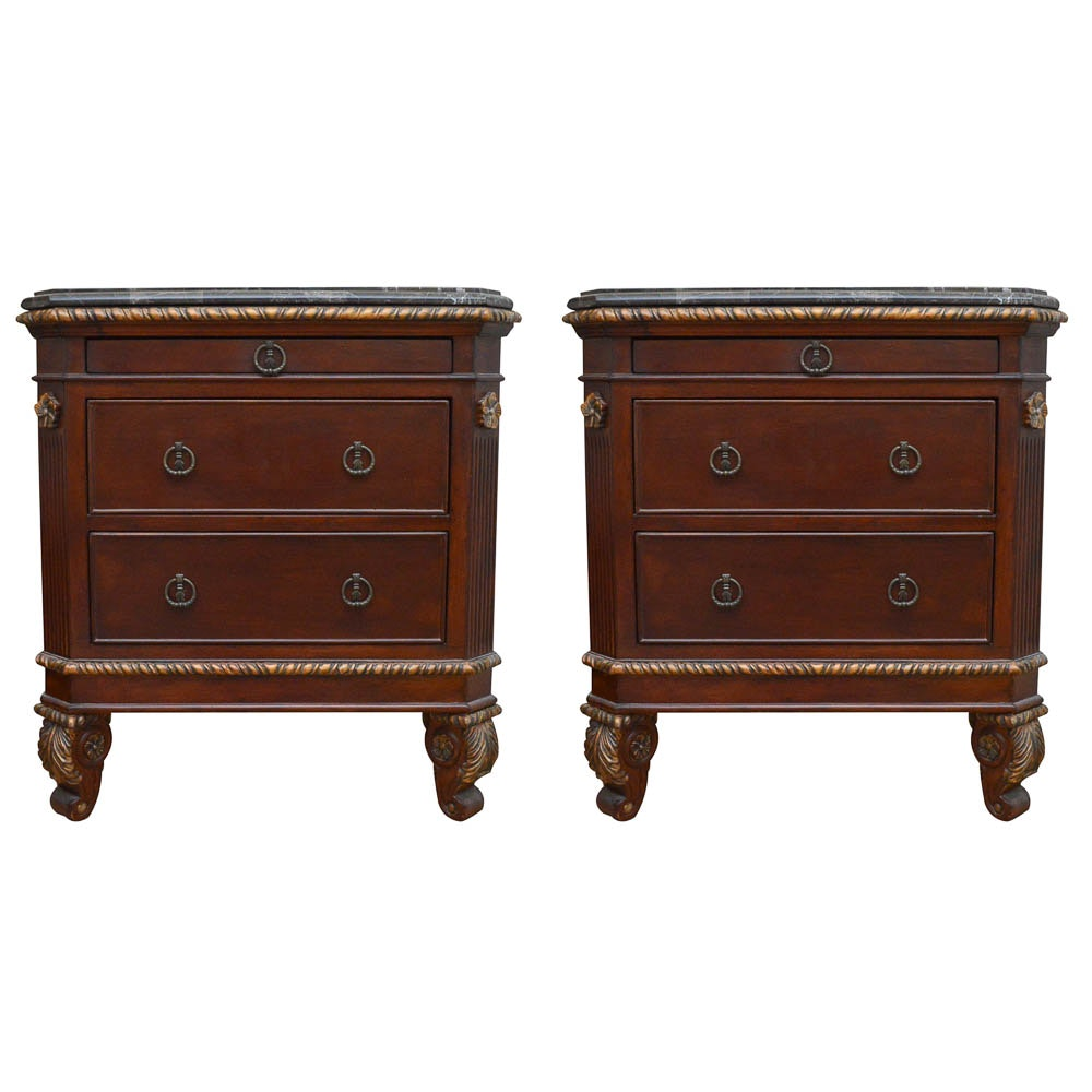 Hand Carved Nightstands by Riviera