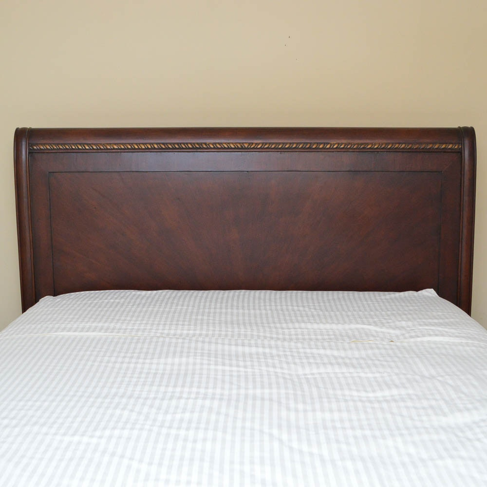 Queen Sleigh Style Bed Frame by Riviera