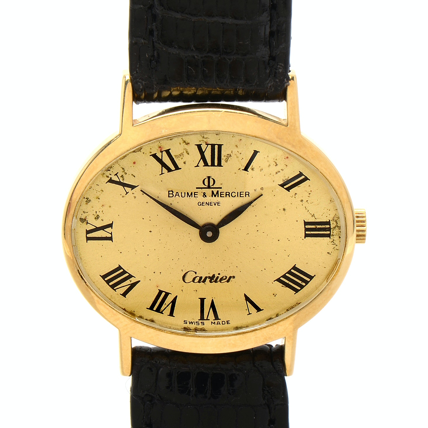 Baume & Mercier for Cartier 18K Gold Manual Wind Wristwatch